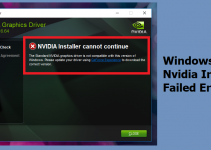 Windows 10 NVIDIA Installer Failed | How To Fix – Complete Guide