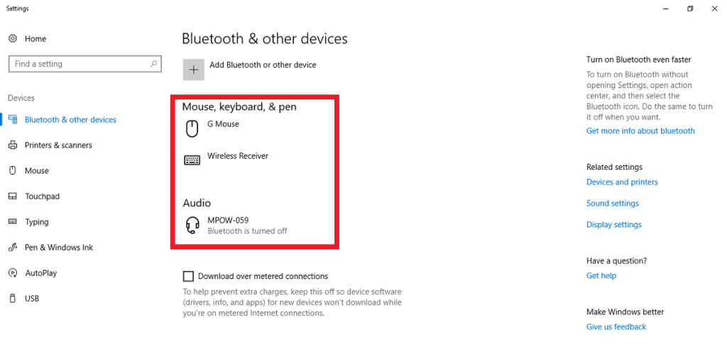 Bluetooth turned off and now can't be turned back on