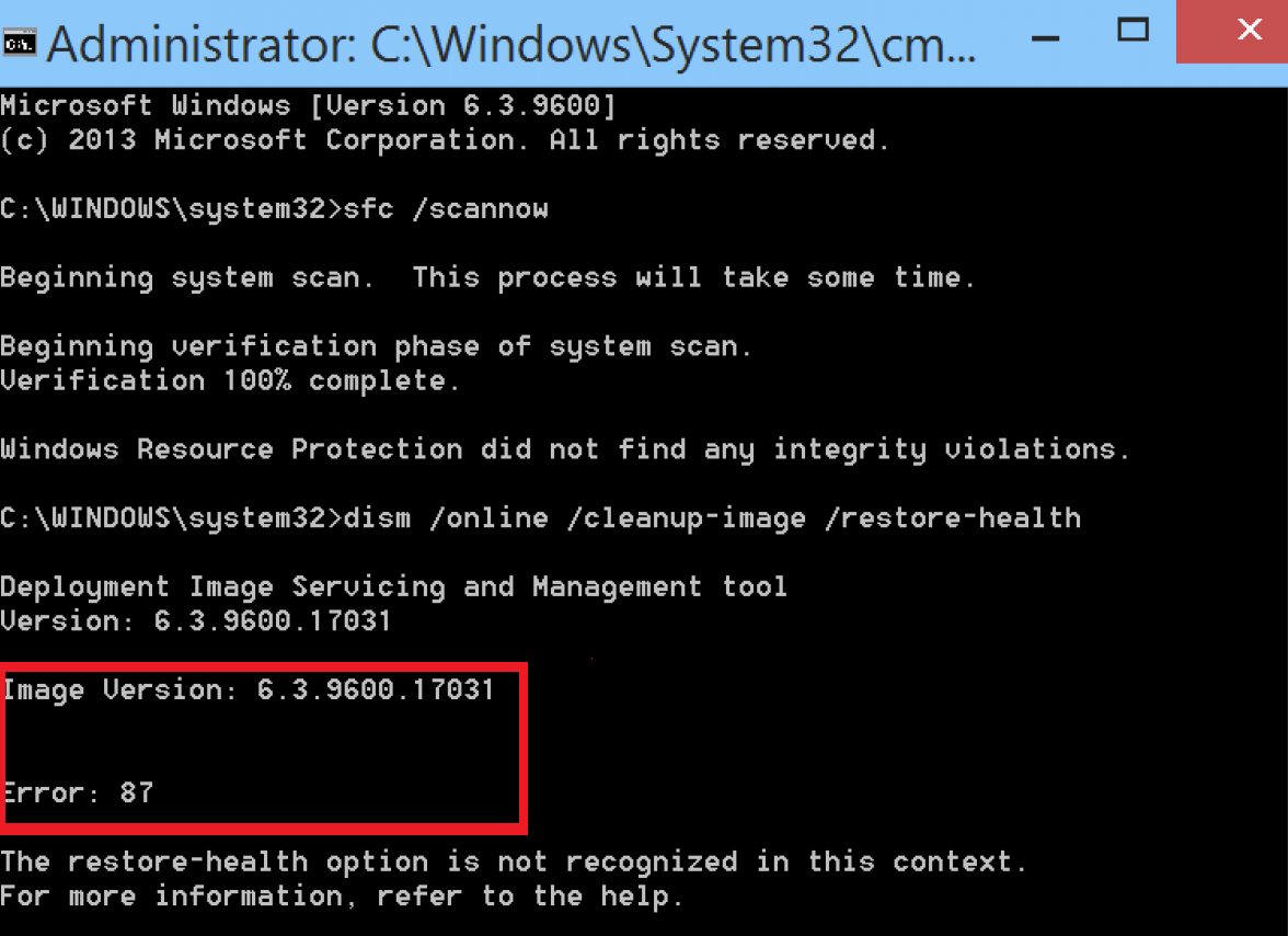 How To Fix Windows 10 DISM Error 87