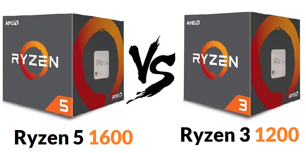 AMD Ryzen 5 1600 vs Ryzen 3 1200 Reviews
