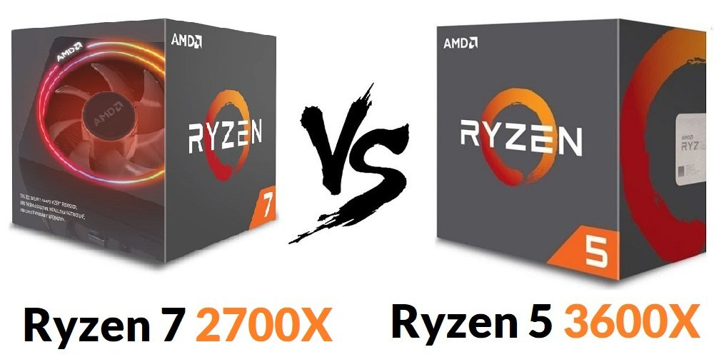 Ryzen 7 2700x vs Ryzen 5 3600x Comparison