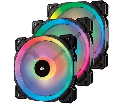 Dual Light Loop RGB LED PWM Fan