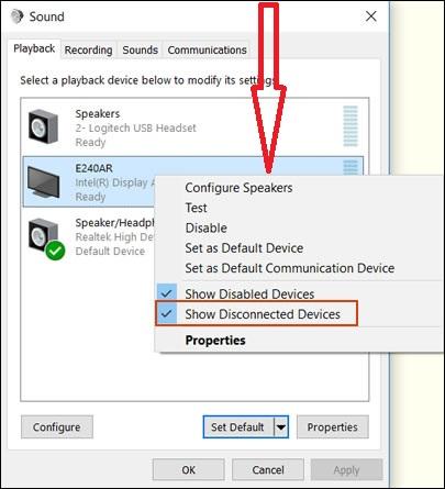 Windows 10 Not Recognizing TV Issue