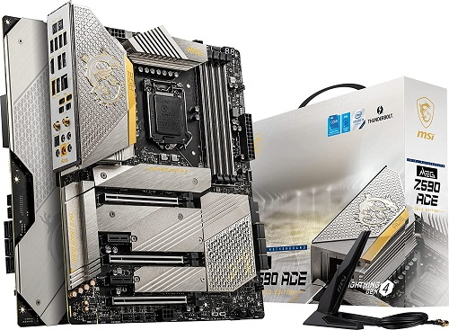 Gold Edition White Gaming Motherboard