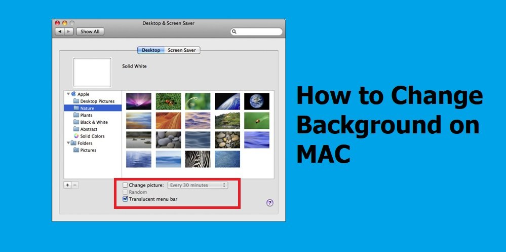 Change the desktop picture in MAC