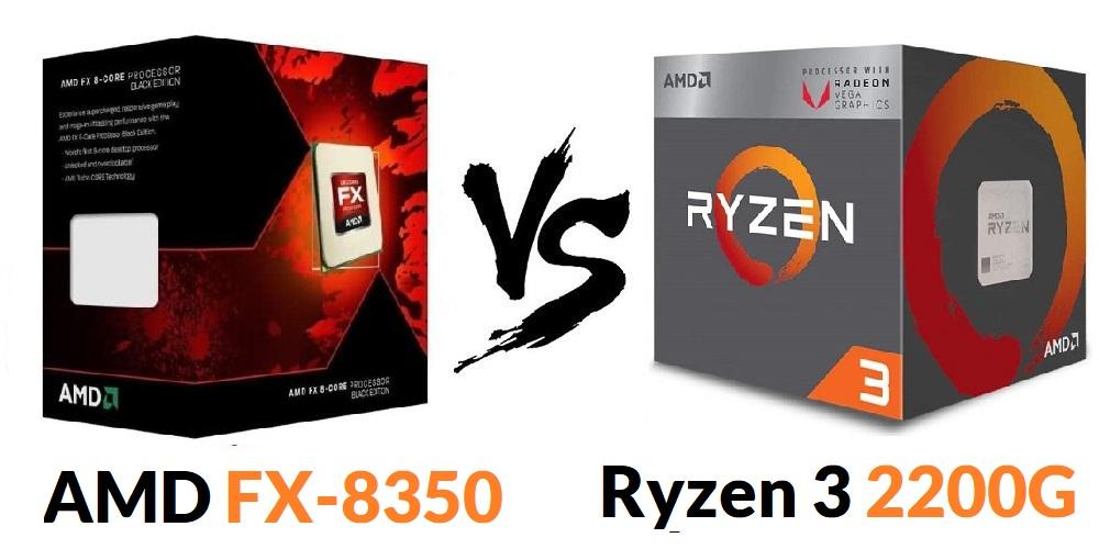Ryzen 3 2200G vs AMD FX-8350 Review
