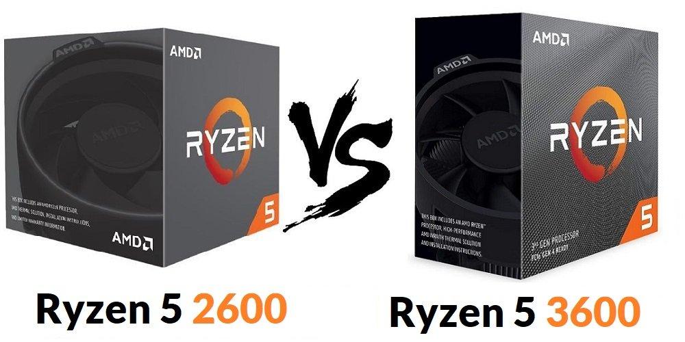 Ryzen 5 2600 vs Ryzen 5 3600 Comparison