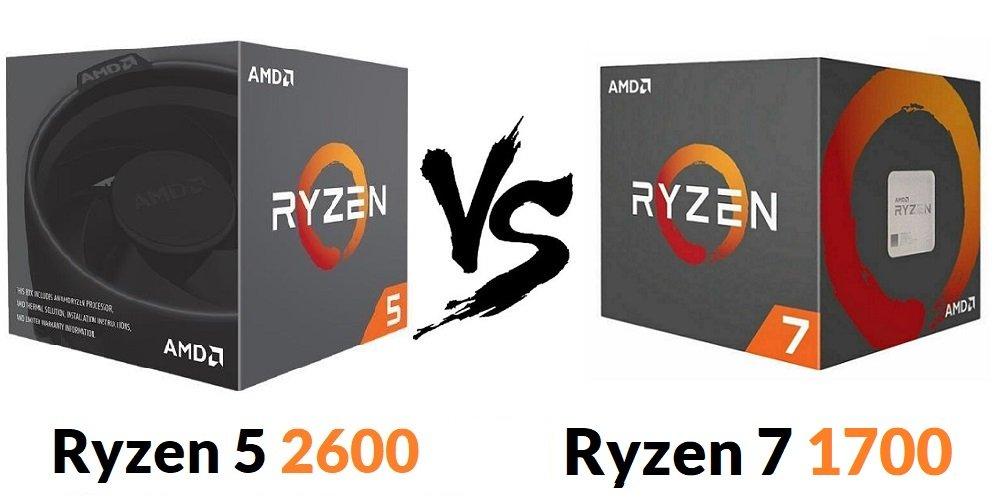 Ryzen 5 2600 vs Ryzen 7 1700 Reviews