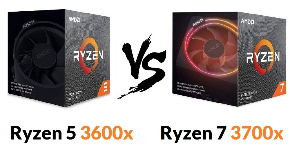 Ryzen 5 3600x vs Ryzen 7 3700x Comparison