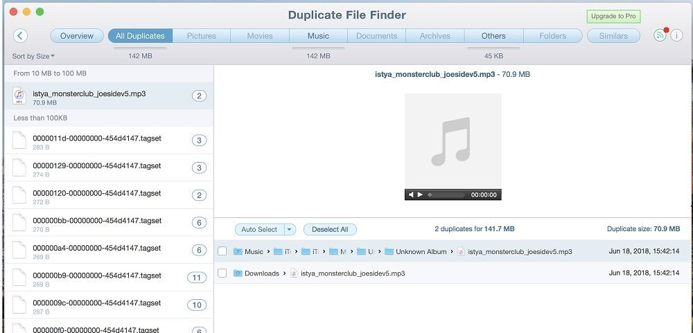 How to find duplicate file on Mac