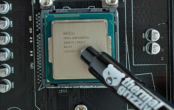 apply thermal paste Safely