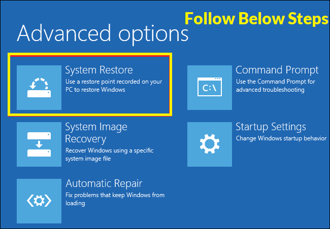 win 10 system restore Guide